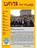 Avis du village – novembre 2014