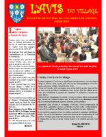 Avis du village – Juin 2019