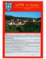 Avis du village – Juillet 2020